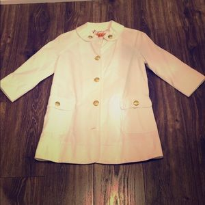 Juice couture white spring coat